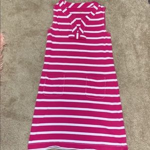 Kate Spade pink striped dress with pockets
